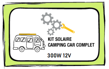 Kit solaire 300W 12V MPPT complet - Camping Car