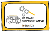 Kit solaire 160W 12V Bluetooth complet - camping car