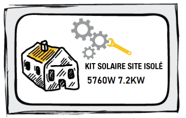 Kit site isolé 5760W-230V - Stockage 7,2kW OPZs