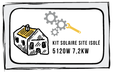 Kit site isolé 5120W-230V - Stockage 7,2kW OPZs