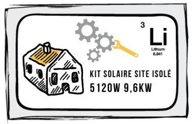 Kit site isolé 5120W-230V - Stockage 9,6kW Lithium